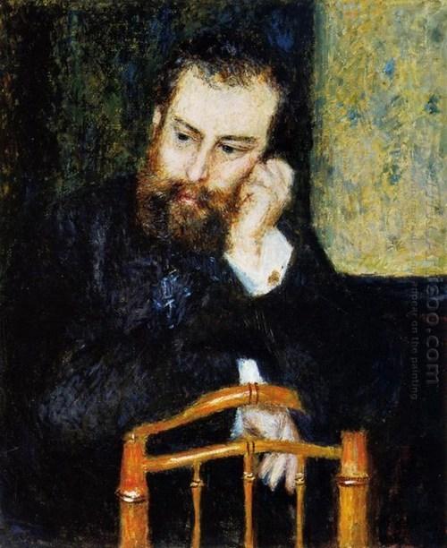 Alfred Sisley 1876 by Renoir