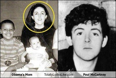 Obama's Mom Totally Looks Like Paul McCartney
