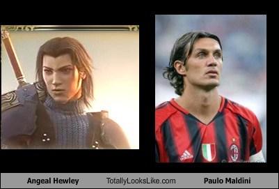 final fantasy,totally looks like,angeal hewley,paulo maldini