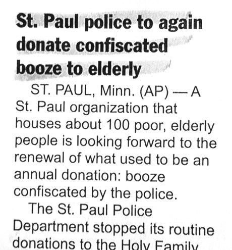 Granny is Getting Faded Thanks to the St. Paul Police Tonight