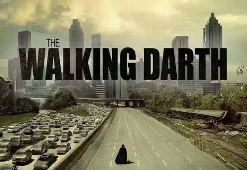 mashup,star wars,puns,darth vader,The Walking Dead