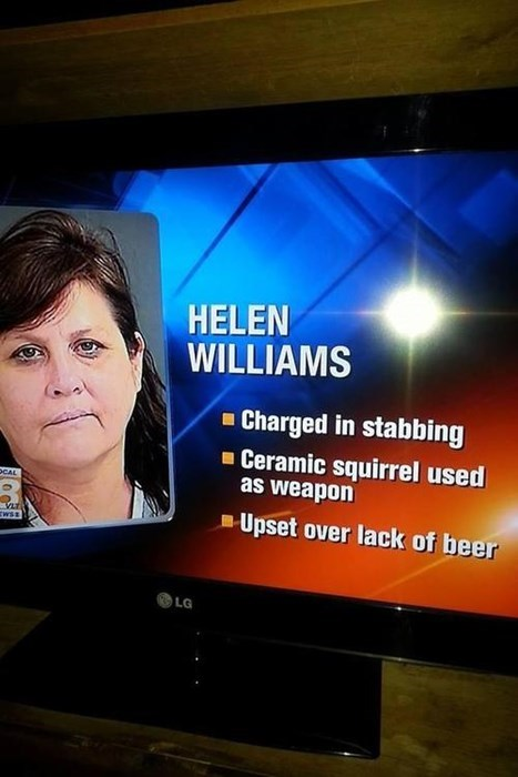 When Someone Grabs the Ceramic Squirrel You Know it Just Got Real