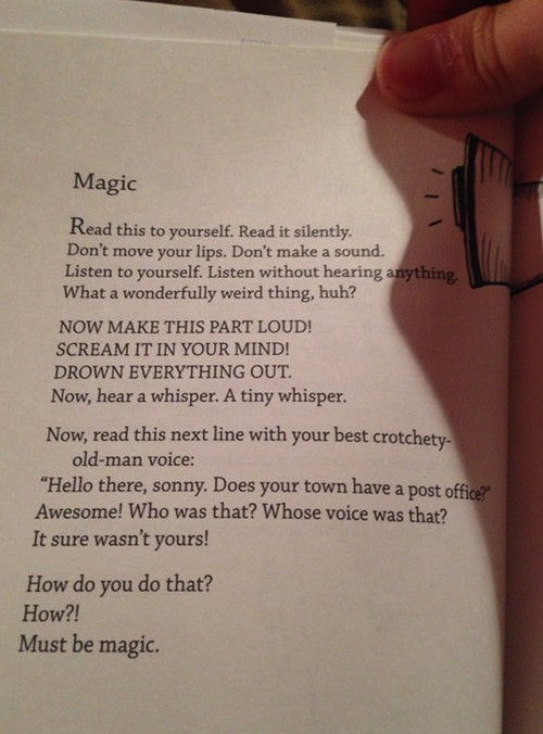 Magic Makes You Read This Poem in a Particular Way