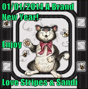 01/01/2014 A Brand New Year! Enjoy Love Stripes & Sandi