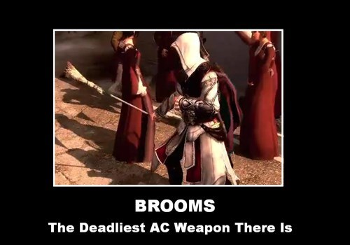assassins creed,broom,funny,video games