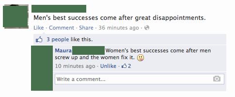 comeback,men vs women,zing