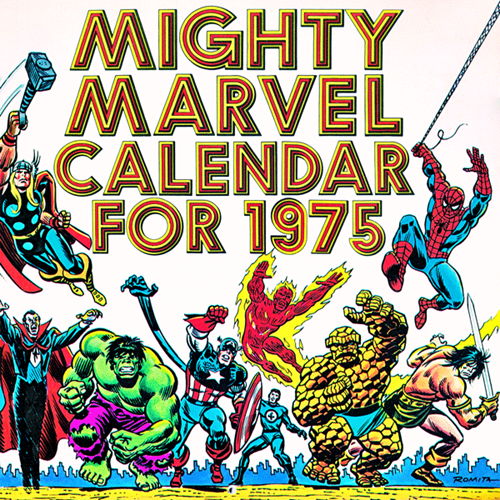 Marvel 1975 Calendar Sinks Up Perfectly to 2014