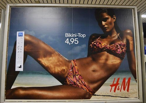 Unknown Artist Pasted the Photoshop Toolbar on Several Posters of H&M in Germany