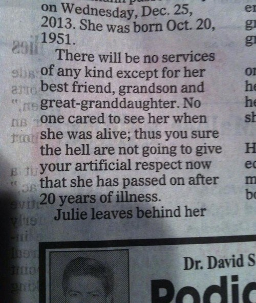 What a Badass Obituary