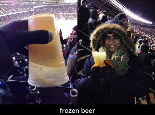 You Seriously Can't Drink at Bears Games