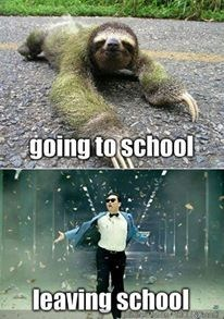 going to school vs leaving school