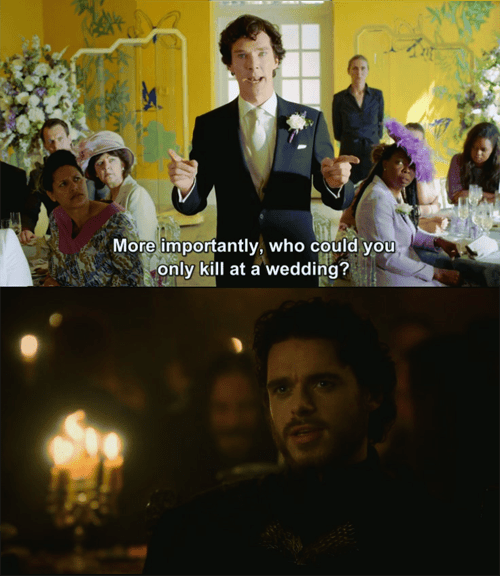 It Really Depends on the Wedding, Sherlock