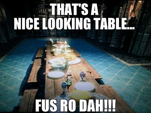 You Can Never Have a Nice Dinner in Peace in Skyrim