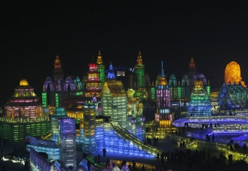The Harbin Ice Festival Makes Literal Cities out of Frost