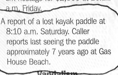 lost and found,facepalm,newspaper