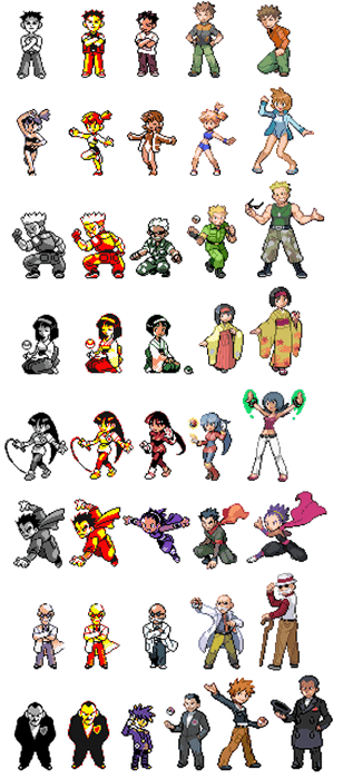 Evolution of the Kanto Gym Leaders