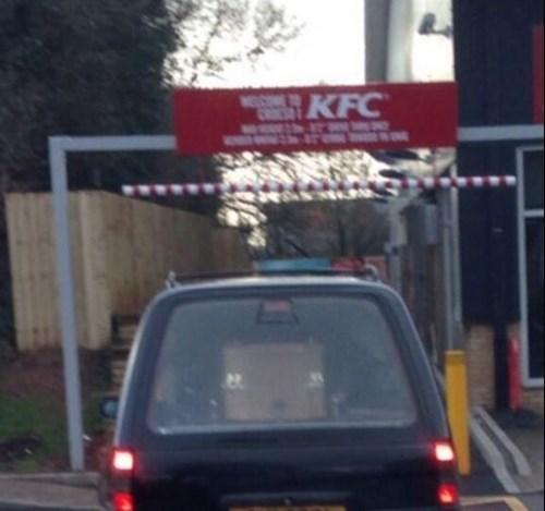 hearse,drive thru,funeral,kfc