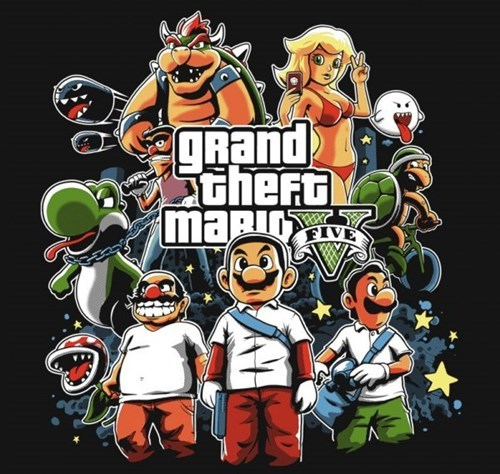 crossover,Grand Theft Auto,mario,nintendo