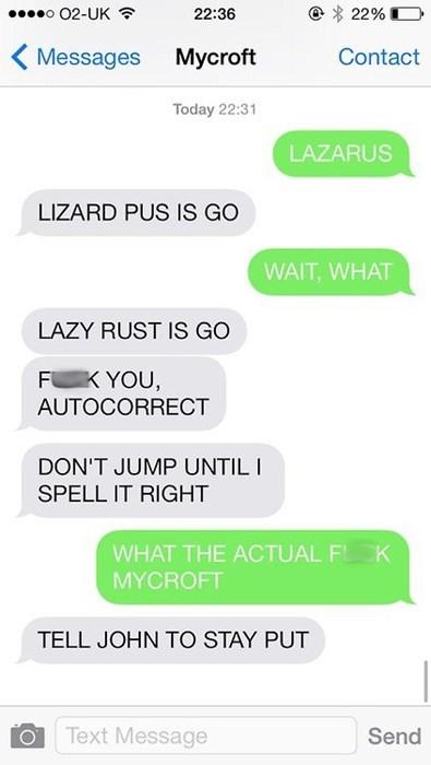 Lizard Pus? Lazy Rust?