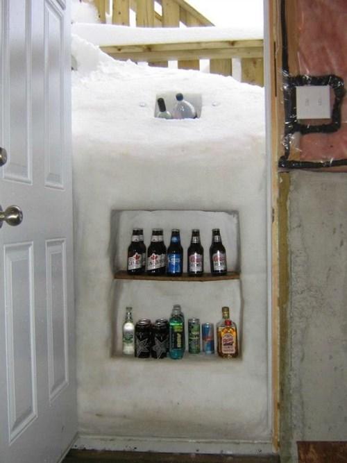 freeze,cooler,snow,winter,life hacks