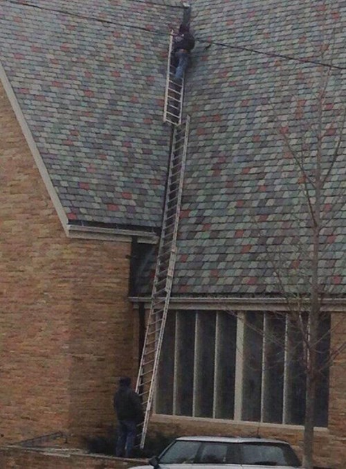 He's Building a Ladder to Heaven