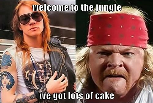 welcome to the jungle  we got lots of cake