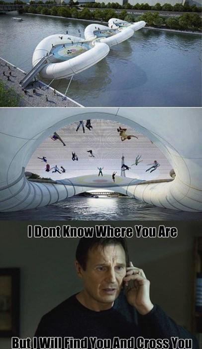 taken,fun,liam neeson,Memes,bridges