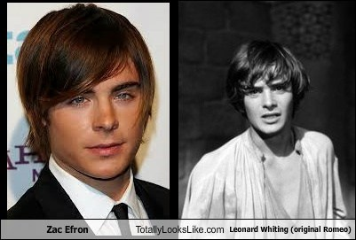 totally looks like,leonard whiting,romeo,zac effron