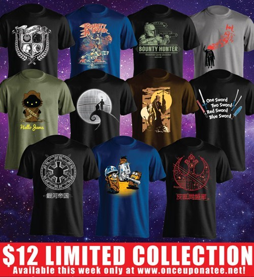 Limited Shirts From a Galaxy Far, Far Away!
