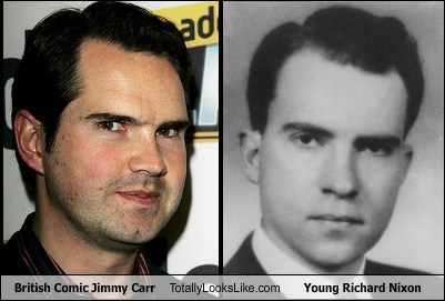 British Comic Jimmy Carr Totally Looks Like Young Richard Nixon
