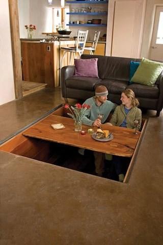 cozy,table,design,hidden