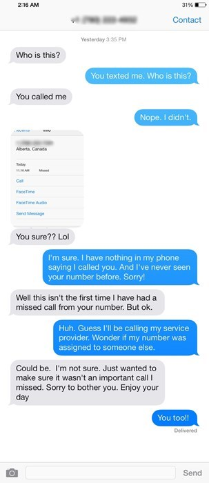 Texting the Wrong Number Can Get Awkward Really Fast
