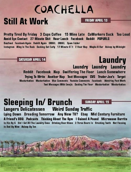 This is the Coachella Lineup for All of Us Who Won't Be Going