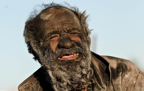 Interesting Person of the Day: Man Who Hasn't Bathed in 60 Years Smokes a Pipe of Animal Feces