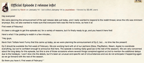 Episode 2 of the Wolf Among Us Expected in the First Week of February