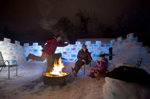 The Frigid Winter isn't so Bad in Your Own Ice Fort