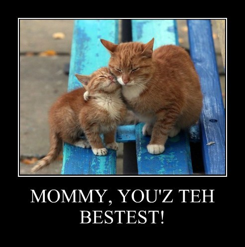 MOMMY, YOU'Z TEH BESTEST!