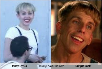 Miley Cyrus Totally Looks Like Simple Jack