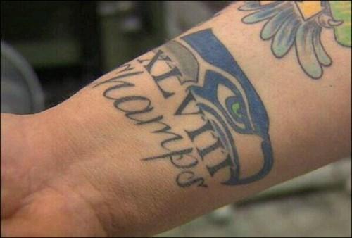 idiots,nfl,sports,seattle seahawks,tattoos,g rated,Ugliest Tattoos