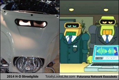 2014 H-D Streetglide Totally Looks Like Futurama Network Execubots