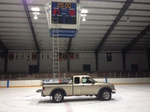 pickup trucks,ladders,ice rink,there I fixed it