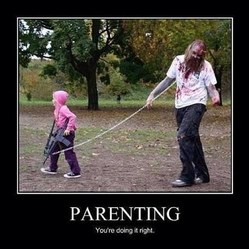 michonne,kids,parenting,zombie,The Walking Dead