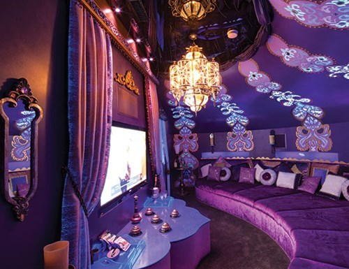 "This Home Theater Gets the ""Aladdin"" Treatment"