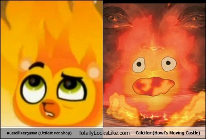 Russell Ferguson (Littlest Pet Shop) Totally Looks Like Calcifer (Howl's Moving Castle)