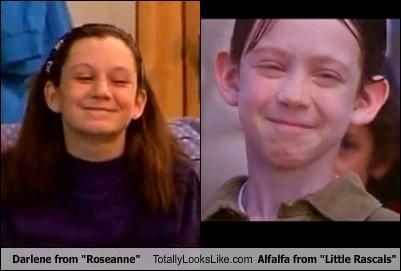 "Darlene From ""Roseanne"" Totally Looks Like Alfalfa From ""Little Rascals"""