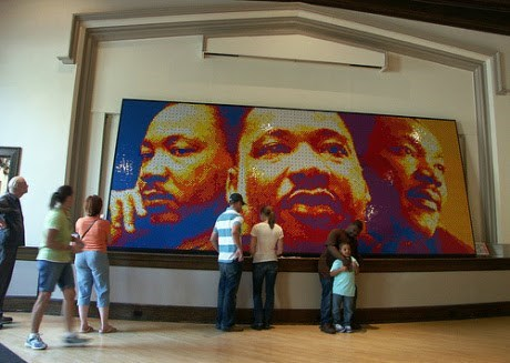 This Incredible Portrait of Dr. King is Made Entirely of Rubik's Cubes