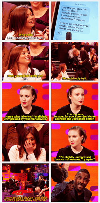 Lena Dunham and Idris Elba Have the Perfect Response for a British Bro Who's Trying too Hard