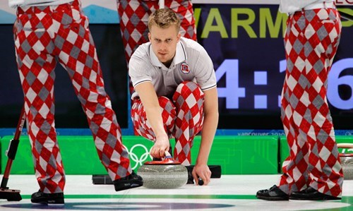The Norwegian Curling Team is Not Clowning Around