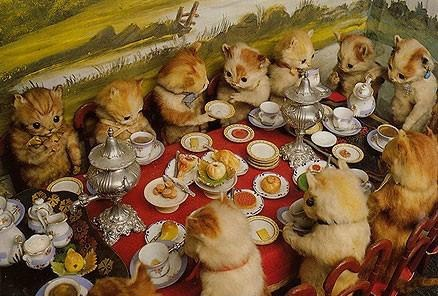 Kitten's tea party by Walter Potter
