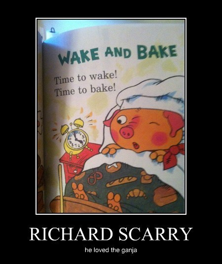 wake and bake,richard scarry,drug stuff,funny